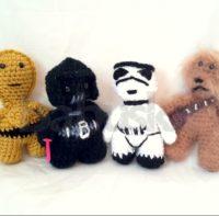 Muñecos Star Wars tejidos al crochet Babuska B1625