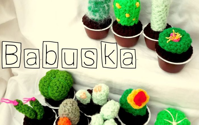 Mini cactus Tejidos al crochet Babuska B941