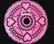 Mandala Corazones rosas
