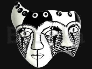 Artesanías en yeso - Mascaras - Babuska