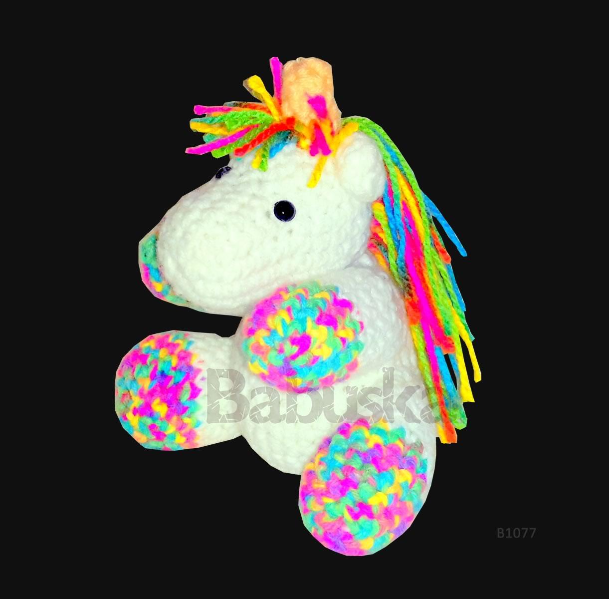 Bonito Unicornio Amigurumi Babuska