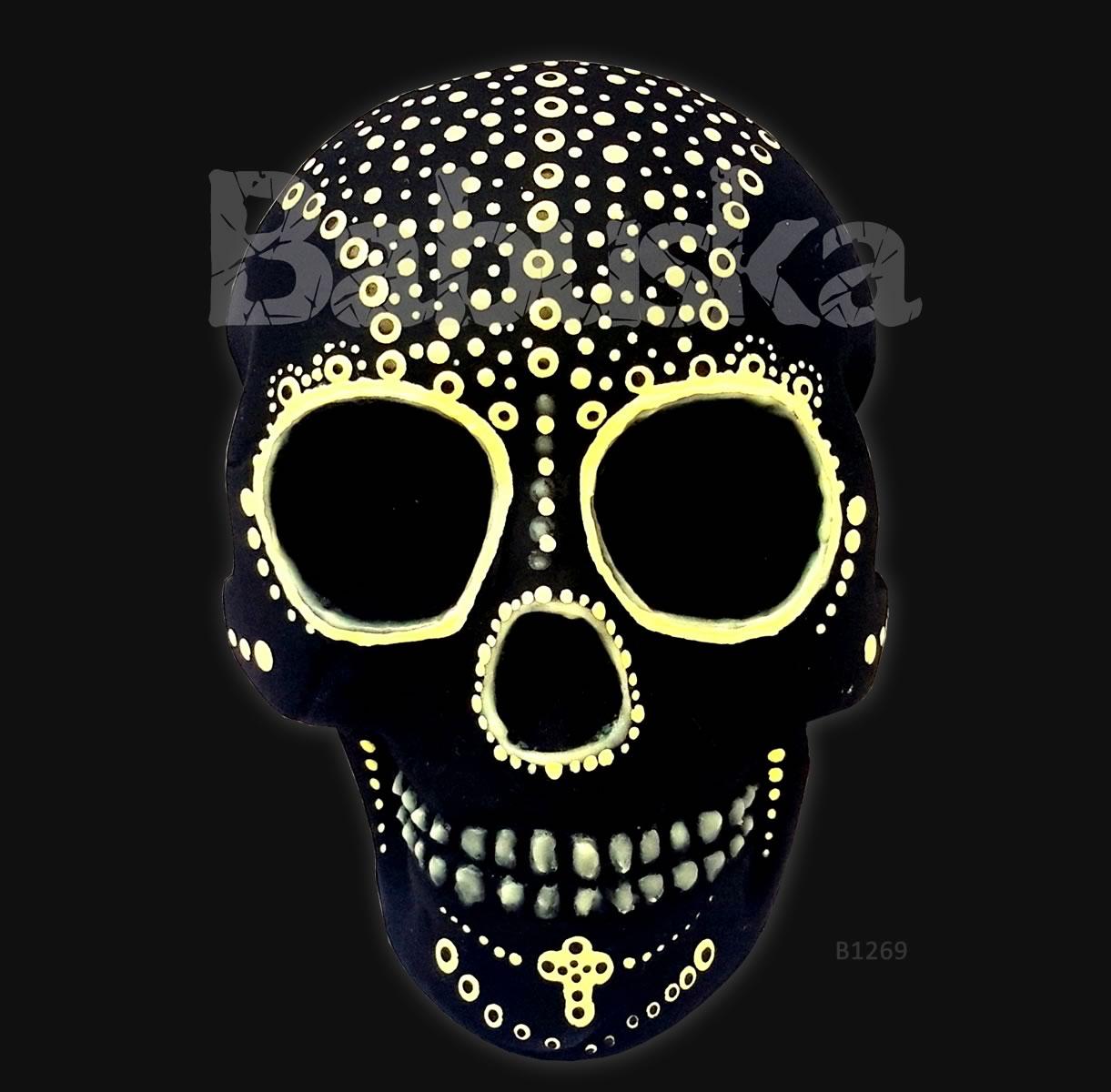 Embrujo Calavera brilla en la oscuridad - Babuska B1269