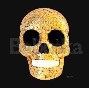 La Dorada Calavera colgante babuska B1154